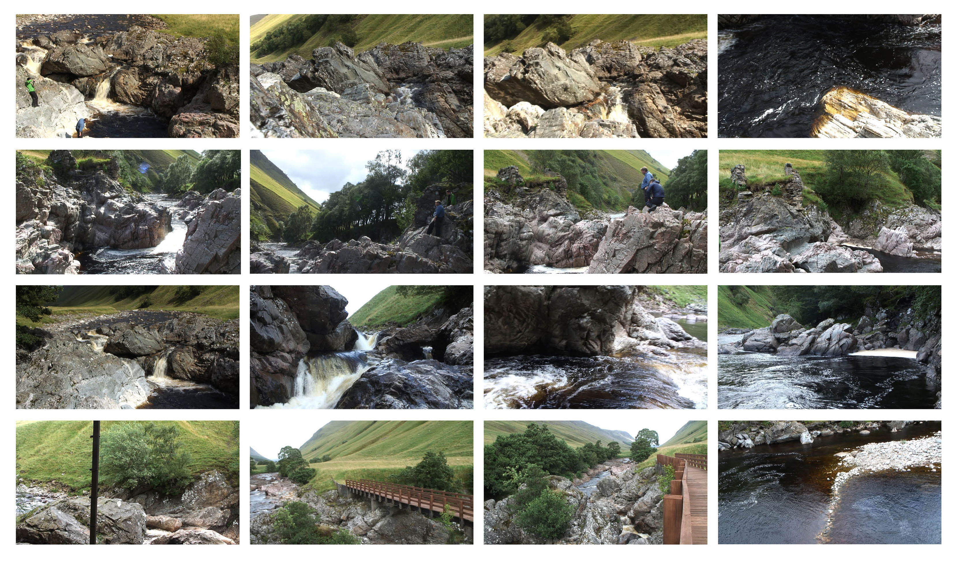 Black Bridge to Rapids to Shepherds' Bridge, beavers, wrought iron, brown trout, salmon leaps. Copyright Victoria Bernie